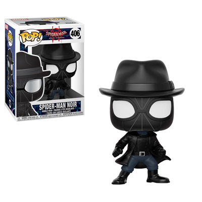 POP! Heroes Marvel: Spider-Man: Into the Spider-Verse - Spider-Man Noir Vinyl Bobblehead Figure #406