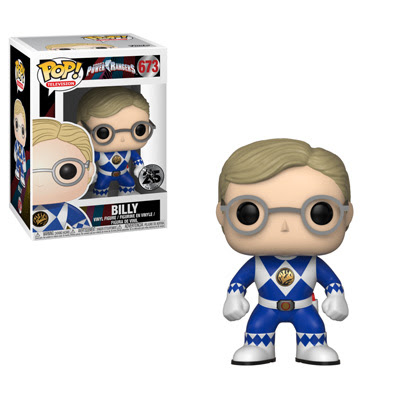 POP! Television: Power Rangers 25th Anniversary - Billy the Blue Ranger (Unmasked) Vinyl Figure #673
