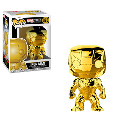 POP! Marvel: MCU 10th Anniversary - Iron Man (Gold Chrome) Vinyl Bobblehead Figure #375
