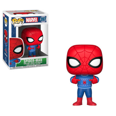 POP! Marvel: Holiday - Spider-Man w/ Ugly Sweater Vinyl Bobblehead Figure #397