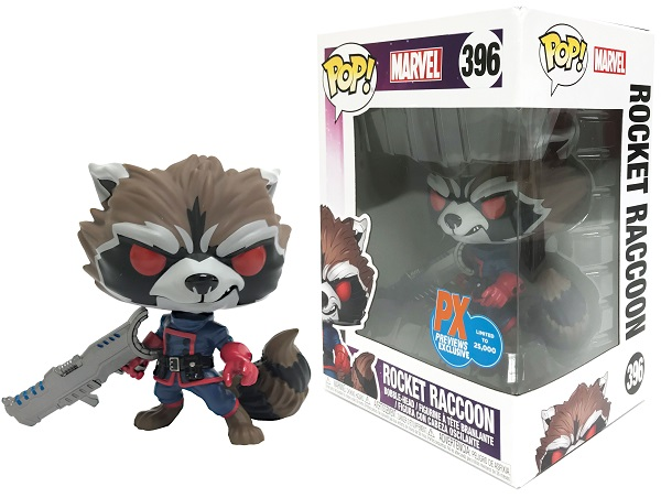 POP! Marvel: GoTG - Classic Rocket Raccoon Vinyl Bobblehead Figure #396 (Comicfest 2018 PX Exclusive)