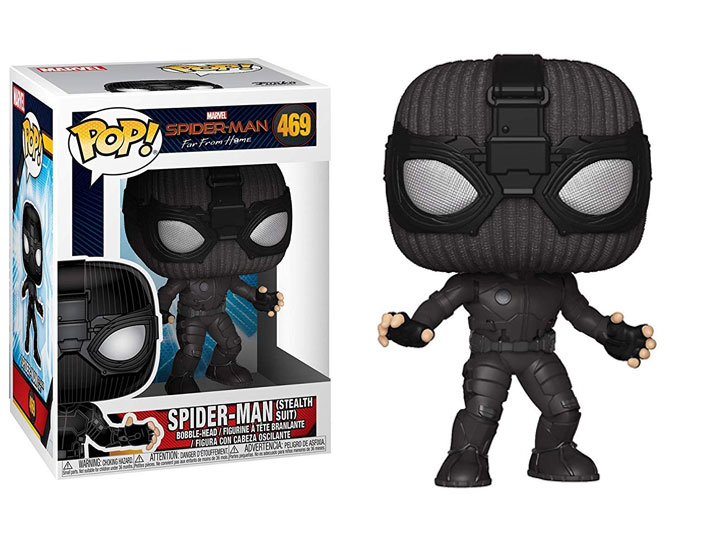 POP! Marvel: Spider-Man: Far From Home - Spider-Man (Stealth Suit) Vinyl Bobblehead Figure #469
