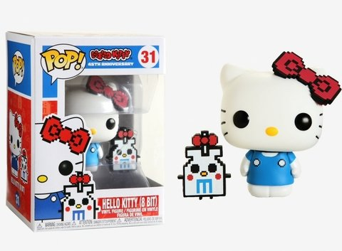 POP! Animation: Hello Kitty 45th Anniversary - Hello Kitty (8 Bit) Vinyl Figure #31