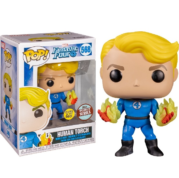 POP! Heroes: Marvel Fantastic Four - Human Torch (Suited) #568 Specialty Series Vinyl Figure