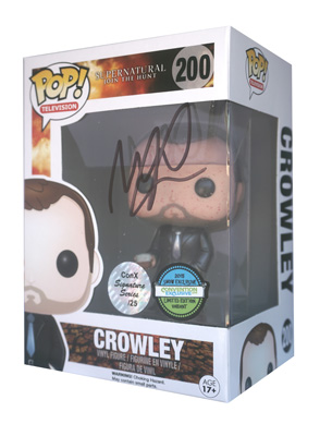 POP! Signature Series: Supernatural - Blood Splatter Crowley Vinyl Figure #200 [Signed by Mark Sheppard]
