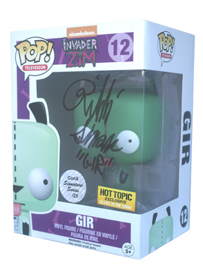 POP! Signature Series: Invader Zim - Gir Vinyl Figure #12 [Signed by Rikki Simons]