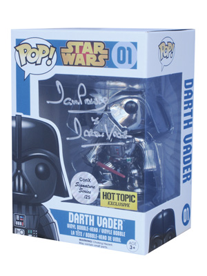POP! Signature Series: Star Wars - Darth Vader Chrome Vinyl Bobblehead Figure #1 [Signed by David Prowse]