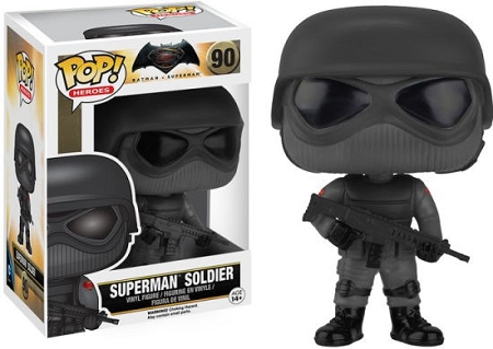 POP! DC Comics: Batman v Superman - Superman Soldier Vinyl Figure #90