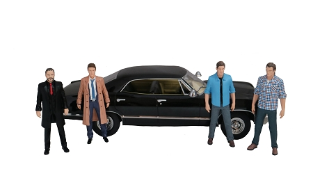 Greenlight Collectibles Supernatural 1967 Chevy Impala Sports Sedan Die Cast 1:18 Scale (NYCC Exclusive)