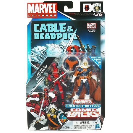 Marvel Universe: Greatest Battles Comic Pack - Deadpool & Taskmaster Action Figure 2-Pack