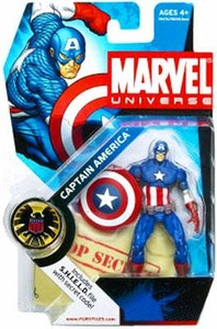 Marvel Universe: Series 1 - Captain America Action Figure #12