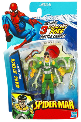 Marvel Spider-Man: Mass Attack Doc Ock Action Figure w/ Battle Cards