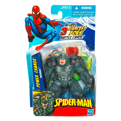 Marvel Spider-Man: Power Charge Rhino Action Figure w/ Battle Cards
