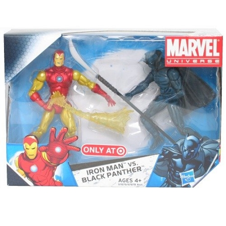 Marvel Comic Packs: Iron Man & Black Panther Action Figure 2-Pack (Target Exclusive)