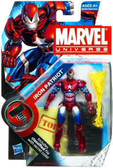 Marvel Universe: Series 2 - Iron Patriot 3.75 Action Figure #19