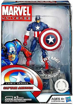 Marvel Comic Series: The Avengers - Captain America [Rogers] Action Figure w/ Light-Up Base (Toys R Us Exclusive)