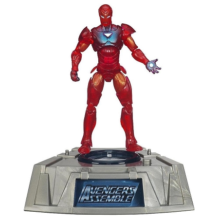 Marvel Comic Series: The Avengers - Extremis Iron Man Action Figure w/ Light-Up Base (Toys R Us Exclusive)