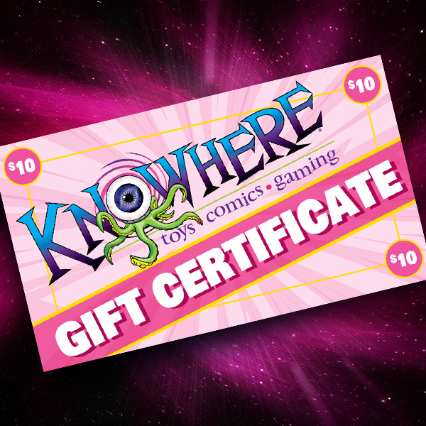 Knowhere Toys $10 Gift Certificate