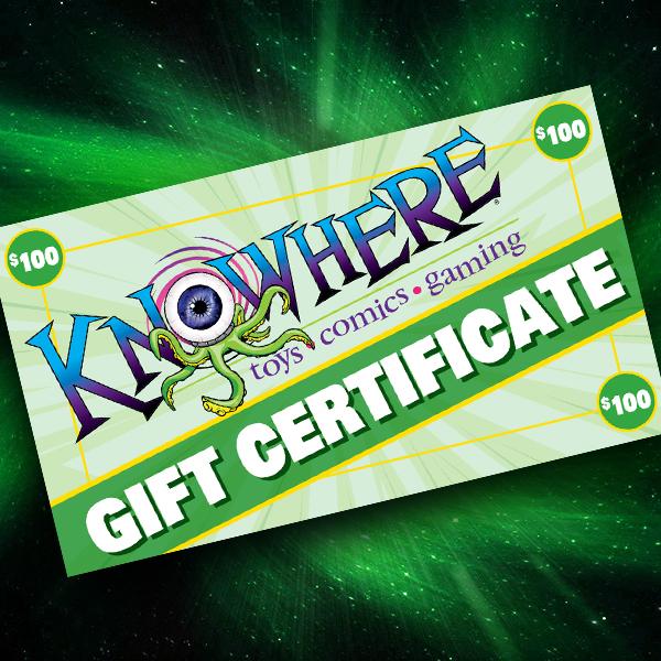 Knowhere Toys $100 Gift Certificate