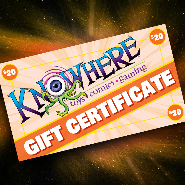 Knowhere Toys $20 Gift Certificate