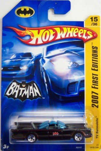 Mattel Hot Wheels: Batman Classic - 1966 Batmobile (2007 New Models) 1:55 Die Cast Model K6147