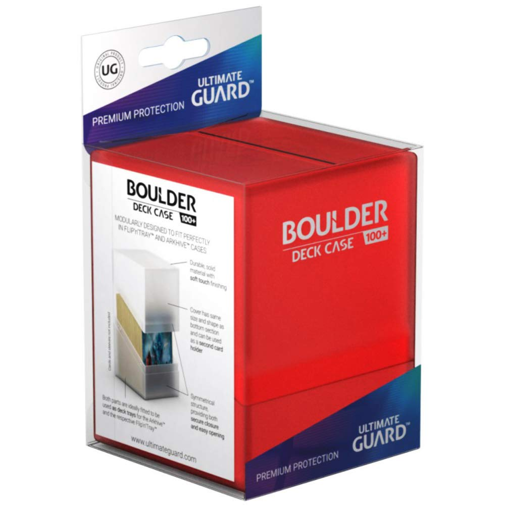 Ultimate Guard: Boulder 100+ Deck Case - Ruby