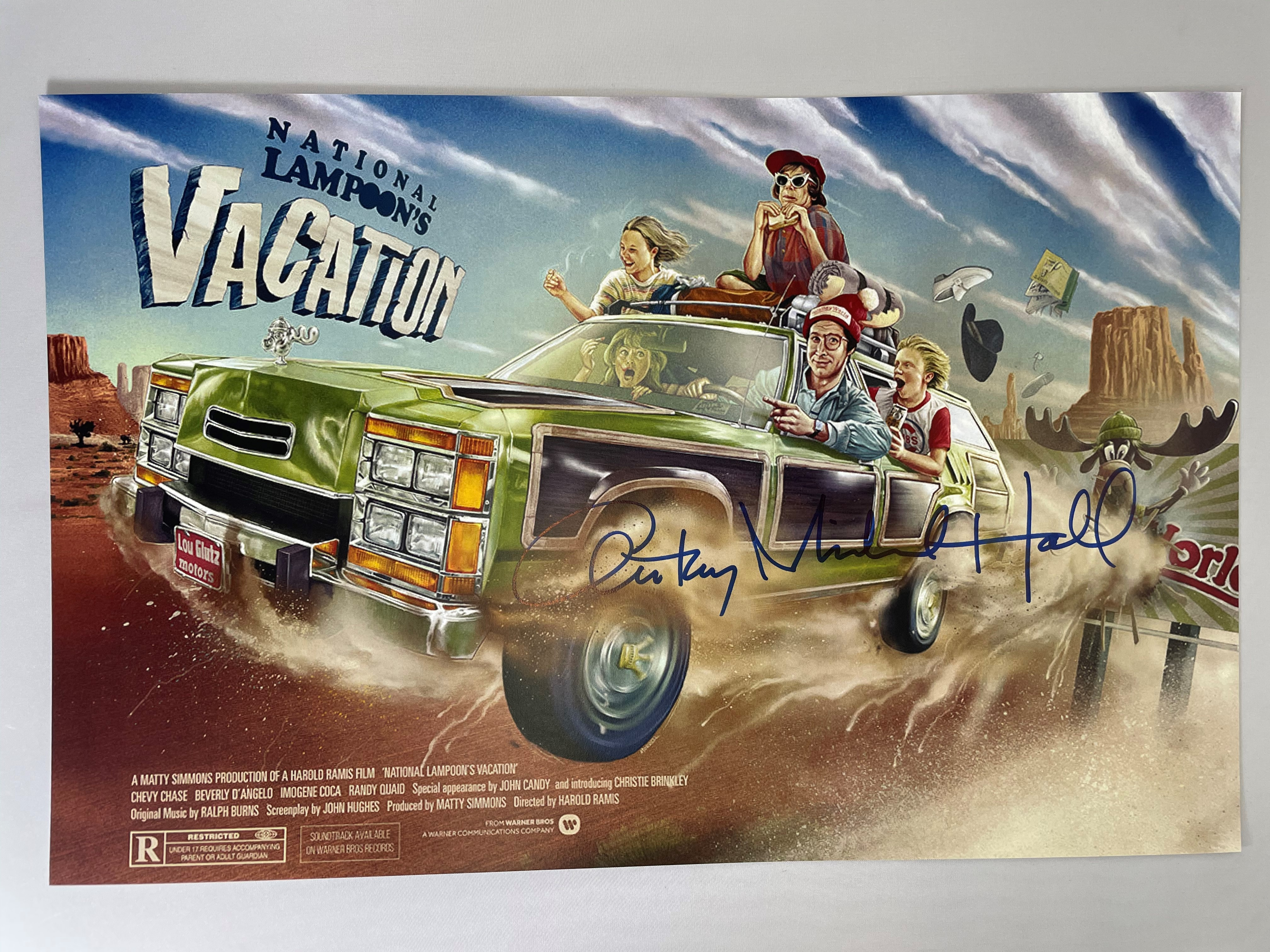 National LAMPOON'S Vacation Poster B 11x17 Signed by Anthony Michael Hall
