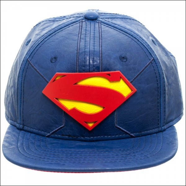 DC Comics: Superman Suit Up Faux Leather Costume Shield Snapback Cap