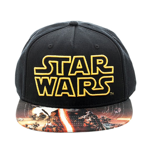 Star Wars: The Force Awakens - Embroidered Poster Sublimated Snapback Black Cap