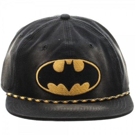DC Comics: Batman Washed Unconstructed 6 panel Snapback Cap