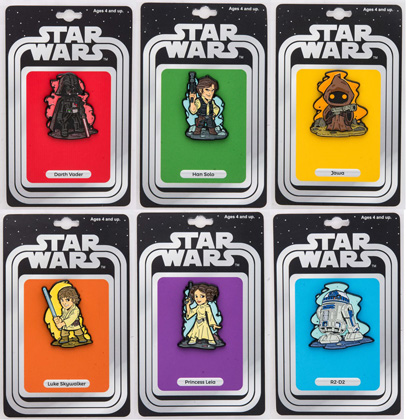 Star Wars: Set of 6 Lapel Pin w/ Vintage Card Back (Our NYCC Exclusive)