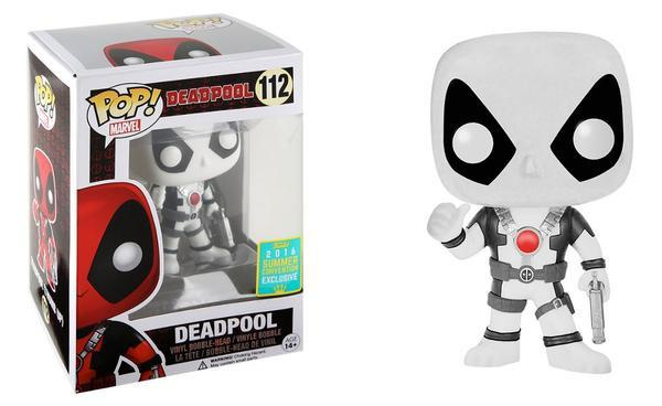 POP! Marvel: Deadpool (Black & White) Vinyl Bobblehead Figure #112 (SDCC 2016 Exclusive)*