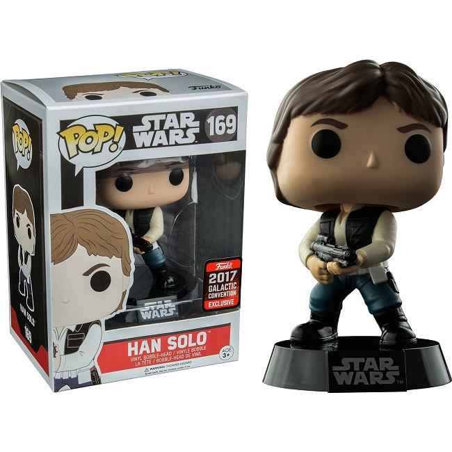 POP! Star Wars: Han Solo Vinyl Bobblehead Figure #169 (Star Wars Celebration 2017 Exclusive)*