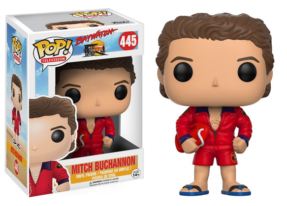 POP! Television: Baywatch - Mitch Buchannon Vinyl Figure #445