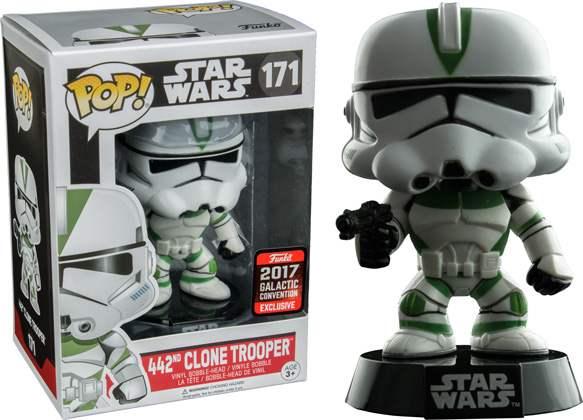 POP! Star Wars: 442nd Clone Trooper Vinyl Bobblehead Figure #171 (Star Wars Celebration 2017 Exclusive)*