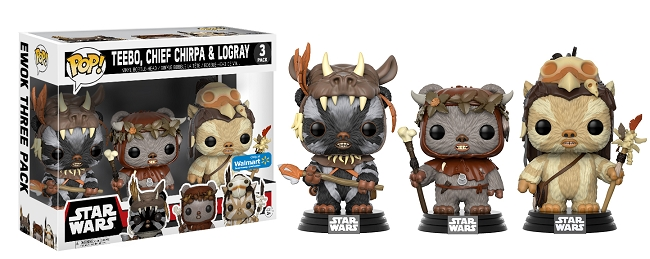 POP! Star Wars: Teebo, Chief Chirpa & Logray Vinyl Bobblehead Figure 3-Pack (Wal-Mart Exclusive)