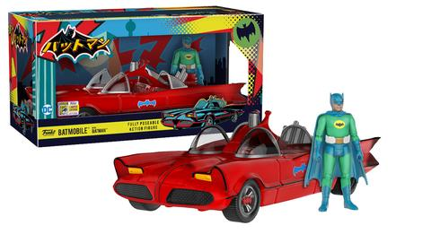 Funko Action Figures: Red Batmobile with Green Batman 1500 Limited Edition (SDCC 2017 Exclusive)