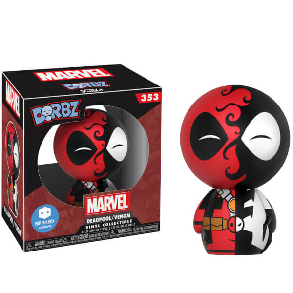 Dorbz Heroes Marvel: Deadpool/Venom Vinyl Figure #353 (Pop In A Box Exclusive)
