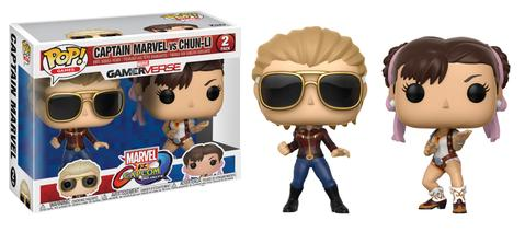 POP! Games: Marvel vs. Capcom - Captain Marvel vs Chun-Li Vinyl Figure 2-Pack