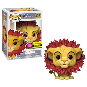POP! Disney: The Lion King - Simba w/ Leaf Mane Flocked Vinyl Figure #302 (Entertainment Earth Exclusive)