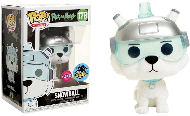 POP! Animation: Rick & Morty - Snowball Flocked Vinyl Figure #178 (Comikaze 2017 Exclusive)