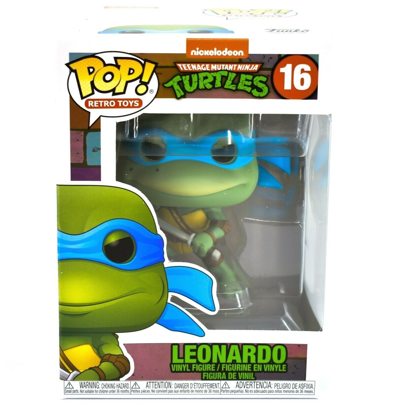POP! Retro Toys: Teenage Mutant Ninja Turtles - Leonardo Vinyl Figure #16