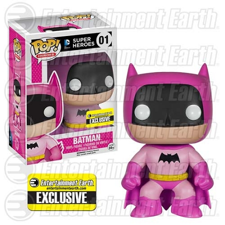 POP! Heroes DC: Batman 75th Anniversary - Pink Rainbow Vinyl Figure #1 (Entertainment Earth Exclusive)
