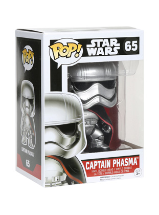POP! Star Wars: The Force Awakens - Captain Phasma Vinyl Bobblehead Figure #65