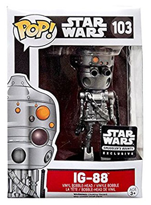 POP! Star Wars: IG-88 Vinyl Bobblehead Figure #103 (Smuggler's Bounty Exclusive)