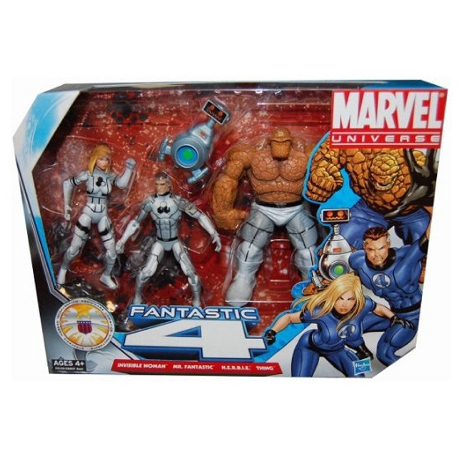 Marvel Universe: Fantastic Four Action Figure 4-Pack (White Uniform Variant)