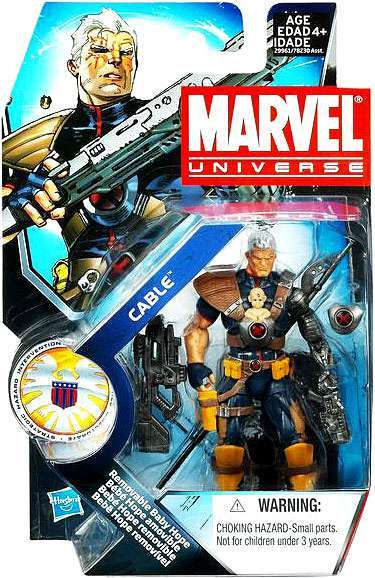 Marvel Universe: Series 3 - Cable Action Figure #7 (with Baby Hope Variant)
