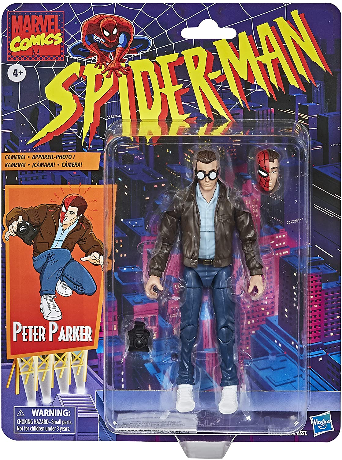Marvel Legends Series: Spider-Man Retro Peter Parker Action Figure