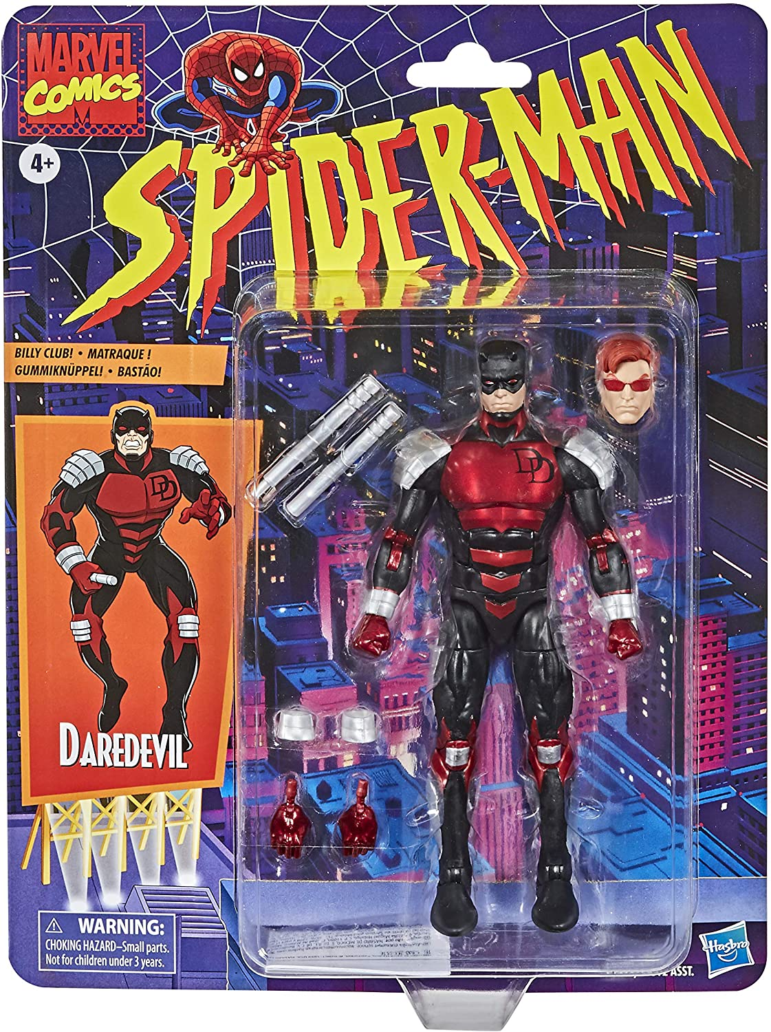 Marvel Legends Series: Spider-Man Retro Daredevil Action Figure