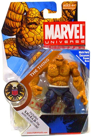 Marvel Universe: Series 1 - The Thing Action Figure #19 (Dark Pants Variant)